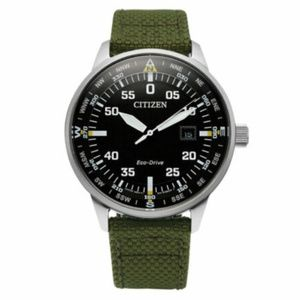 Citizen Eco-Drive Mens Watch Green Nylon Strap